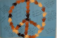 peace hands martin luther king jr black history month bulletin board