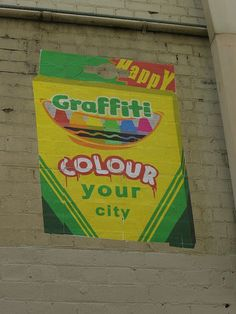 colour your city with happy graffiti