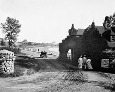 The Gatehouse at Niles Beach Gloucester Massachusetts 1905 Historical Photo Reproduction 8x10