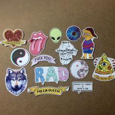 Grunge Stickers by NancyNHoang on Etsy