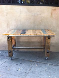 industrial table with reclaimed wood  $325