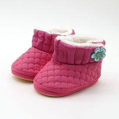 364a61992d079 Baby Winter Flower Shoes Newborn Infant Warm Soft Bottom Anti slip Snow Boots  Toddler Plus Velvet Thick soled Booties-in Boots from Mother   Kids on ...