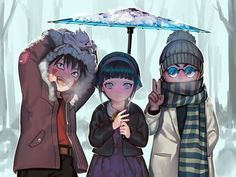 #Naruto #NarutoShippuden #Team8 #Kiba #Hinata #Shino