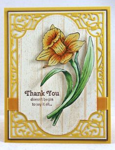 JustRite CHA February Release - Thank You Daffodils | JustRite Papercraft Inspiration Blog