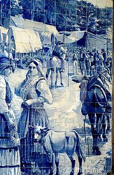 Porto Tile Painting by Gepapix, via Dreamstime
