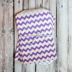Chevron Favor Bags - Purple - Medium for $3.50 from The TomKat Studio Party Shop  Thing Homecoming!