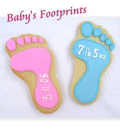 Cute cookies to use as birth announcements