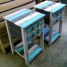 Oak Pallet Coffee and End Tables