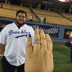 THINK BLUE: So this happened last night I'm soo happy  I cried like a . I'll post a video later #engaged by jasmineeglam