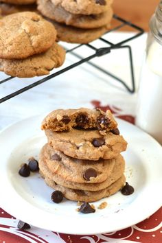 Guest post for @wegotreal :) Sprouted flour chocolate chip cookie recipe. These are gooey and not to dry and dense like most sprouted flour recipes. Make these tonight!
