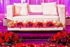 #wedding #red #pink #purple #weddingreception #indianwedding #indianweddings