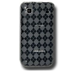Amzer Luxe Argyle Skin Case for Samsung Vibrant T959/Samsung Galaxy S 4G SGH-T959V - Smoke Gray (Wireless Phone Accessory)