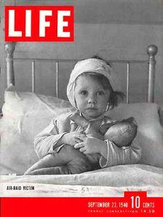Life Magazine Cover Copyright 1940 Air Raid Victim - Mad Men Art: The 1891-1970 Vintage Advertisement Art Collection