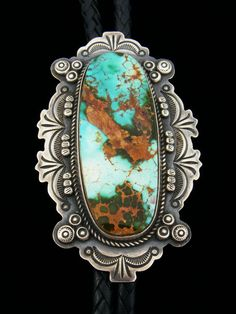 Turquoise Bolo by Dean Sandoval.