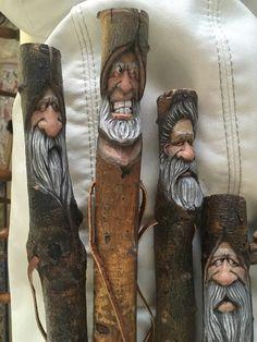 Rich Wetherbee Handmade Walking Sticks, Hand Carved Walking Sticks, Wooden Walking Canes, Wooden Canes, Wooden Walking Sticks, Walking Sticks And Canes, Wood Carving Faces, Dremel Wood Carving, Wood Carving Patterns