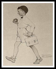 Norman Rockwell, School Boy Drawing