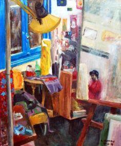 "Saatchi Art Artist Kyriakos Thouki; Painting, ""The studio of Pere"" #art"