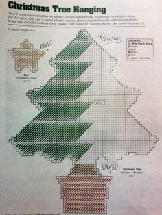 Tree trio Santa's pattern plastic canvas 2-4