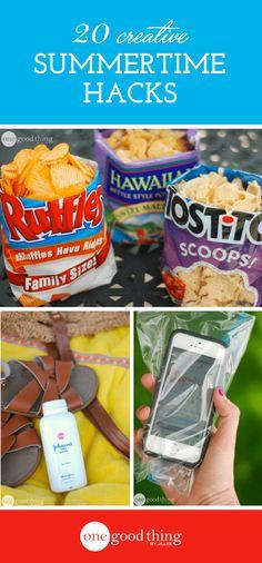 20 Creative Summertime Hacks! - One Good Thing by Jillee