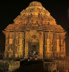 Sun Temple, dedicated to the Sun god, Konark, India! A UNESCO world heritage site, and one of the seven wonders of India.