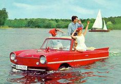 Amphicar 770~I seen a few of those drive on land and just drive right in the water and float like a boat....