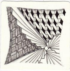 Die Daily New Challenge - ElaToRium & Zentangle Zentangle Drawings, Doodles Zentangles, Zentangle Patterns, Tangle Art, Zen Art, Zen Doodle, Visionary Art, Samara, Art Studies