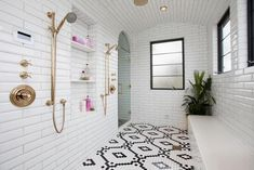 Tiny homes have to make efficient use of space and that includes the bathrooms. A tiny house bathroom has to accommodate a toilet, a bath and/or shower, and a sink in a very small amount of space. Bathroom Shower Tile, Tiny House Bathroom, Amazing Bathrooms, Tile Remodel, Bathroom Shower, Shower Floor, Bathrooms Remodel, Bathroom Design, Shower Design