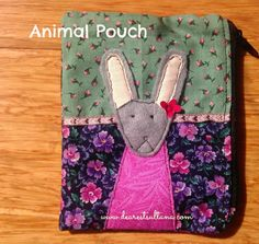 rabbitanimalpouch Pot Holders, About Me Blog, Pouch, Projects, Kids, Crafts, Animals, Log Projects, Young Children