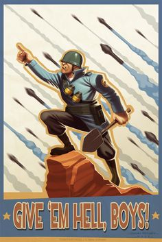 Soldier Propaganda Poster / Team Fortress 2