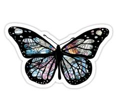 'Butterfly Collections' Sticker by Kay-Louise Tumblr Stickers, Cool Stickers, Laptop Stickers, Overlays, Plastic Grocery Bags, Vintage T-shirts, Backrounds, Diy Phone Case, Tumblr Png