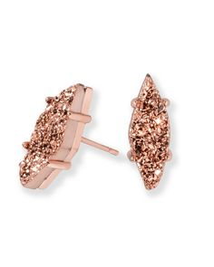 f669bd8d2 Shop rose gold drusy stud earrings at Kendra Scott. With classic pink rose  gold drusy stones - the Brook stud drusy earrings are must have accessories.
