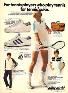 For tennis sake! Adidas Vintage, Adidas Retro, Vintage Tennis, Adidas Superstar Vintage, Vintage Shoes, Tennis Fashion, Adidas Fashion, Sport Fashion, Fashion Models
