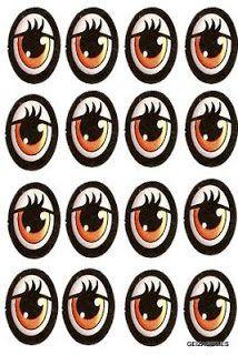 Moldes de Olhos,Bocas,Nariz e Bigodinho Para Imprimir - Toda Atual Mais