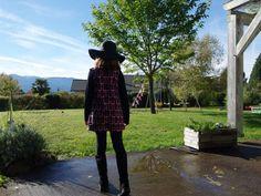 Jolie robe seventies pour fillette en coton bio avec un joli motif flamants roses