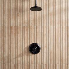 "Ivy Hill Tile Montgomery 24"" x 48"" Porcelain Wood Look Tile | Wayfair Wood Tile Shower, Shower Floor, Wood Look Tile Bathroom, Wood Wall Tiles, Tropical Tile, Tile Saw, Slat Wall, Commercial Flooring, Outdoor Flooring"