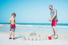 Father and Son, Sand Castles | Lifestyle Photography Charlotte, NC by Lovella Paradiso | candidhams.net