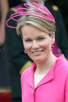 Princess Mathilde, July 21, 2009 in Fabienne Delvigne | Royal Hats