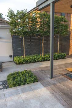 Contemporary Garden Design, Contemporary Landscape, Landscape Design, House Landscape, Garden Design Plans, Patio Design, Exterior Design, House Design, Backyard Privacy