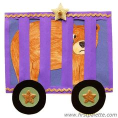 Make a fun circus train out of paper with paper circus people and animals to ride in it. Circus Animal Crafts, Circus Crafts, Circus Art, Circus Train, Fun Crafts For Kids, Toddler Crafts, Art For Kids, Craft Kids, Kid Crafts