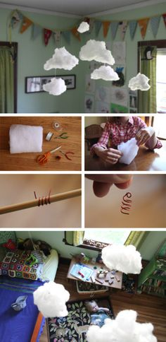i've seen so many sweet ideas for DIY mobiles but this one might be favorite.