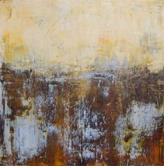 """Cindy Walton -Deep South, oil and cold wax on panel (framed), 12"""" x 12"""""""