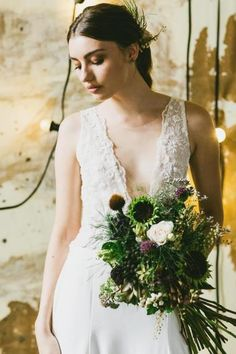 Hello May Industrial | Kate Dawes Flower Design | Hope & Lace | Jenneke Storm Photography