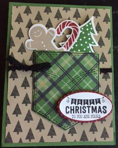 Pocket full of Christmas by - Cards and Paper Crafts at Splitcoaststampers Stamped Christmas Cards, Homemade Christmas Cards, Christmas Cards To Make, Xmas Cards, Homemade Cards, Handmade Christmas, Christmas Ideas, Christmas Tree, Christmas Movies