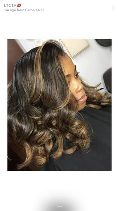 New Hair Color Black Highlights Curls Ideas Weave Hairstyles, Pretty Hairstyles, Straight Hairstyles, Love Hair, Gorgeous Hair, Curly Hair Styles, Natural Hair Styles, Natural Hair Weaves, Twisted Hair