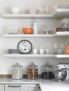 Ideas for open shelving