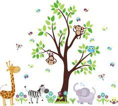 Nursery Wall Decals  Jungle and Safari Themed  Baby Room - https://www.etsy.com/shop/WallDecalMagic