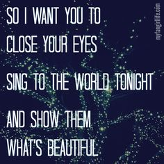Meghan Trainor Close Your Eyes! I'm obsessed with this song, the message it conveys is so amazing and inspiring!