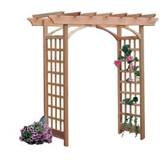 Shop Garden Architecture Natural Garden Arbor at Lowes.com