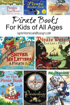 Fun pirate books for kids of all ages, including picture books, chapter books, and non-fiction books. Pirate Activities, Classroom Activities, Activities For Kids, Pirate Preschool, Classroom Ideas, Pirate Day, Pirate Theme, Pirate Birthday, Books For Boys