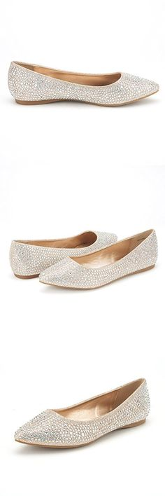 DREAM PAIRS SOLE FANCY Women's Casual Pointed Toe Ballet Comfort Soft Slip On Flats Shoes GOLD SIZE 10